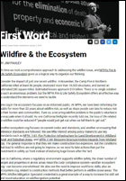 Featured item Wildfire & the Ecosystem