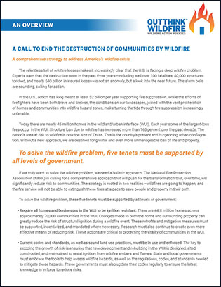Wildfire policy overview