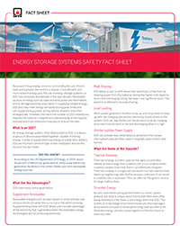 NFPA ESS fact sheet