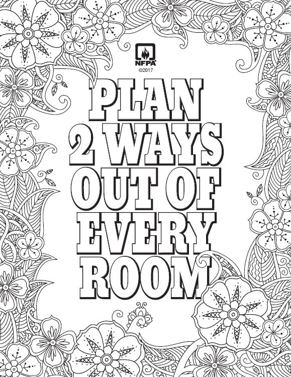 Fire Prevention Week coloring sheet adds a dose of fun to ...