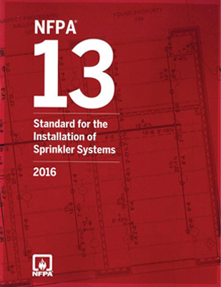 NFPA 13, Standard for the Installation of Sprinkler Systems, 2016 edition