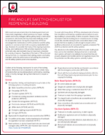 Featured item Fire and Life Safety Checklist for Reopening a Building
