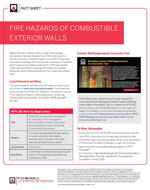 Featured item Fire Hazards of Combustible Walls