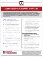 Featured item Emergency  preparedness checklist