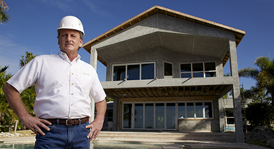 Florida homebuilder Sam Davis has installed sprinklers in dozens of homes