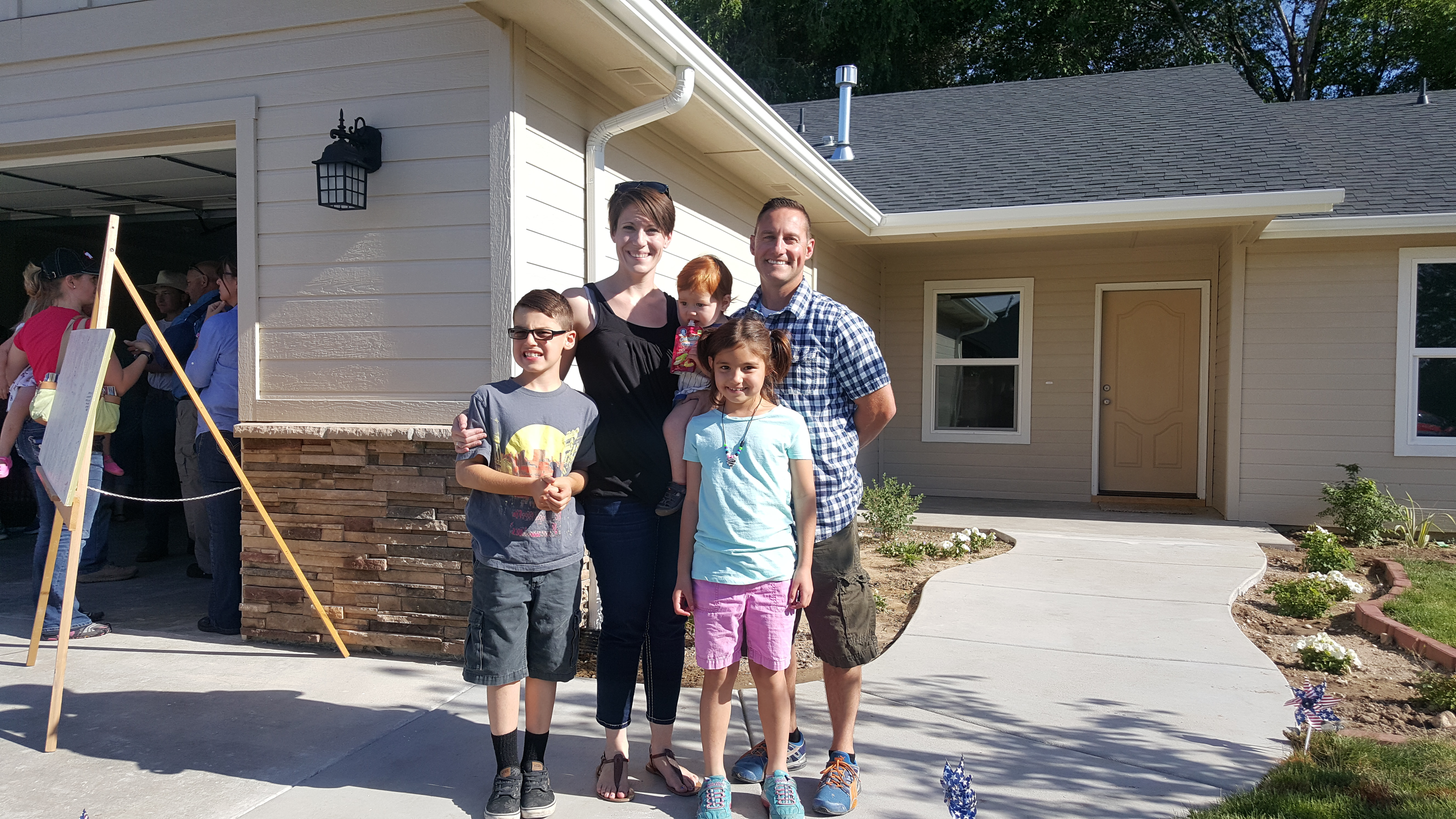 Idaho family in Habitat for Humanity home