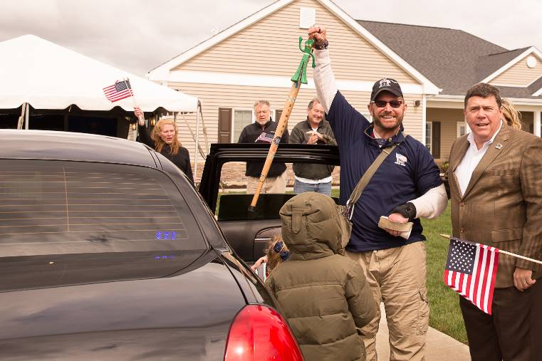Home for our Troops recipient receives a sprinklered home