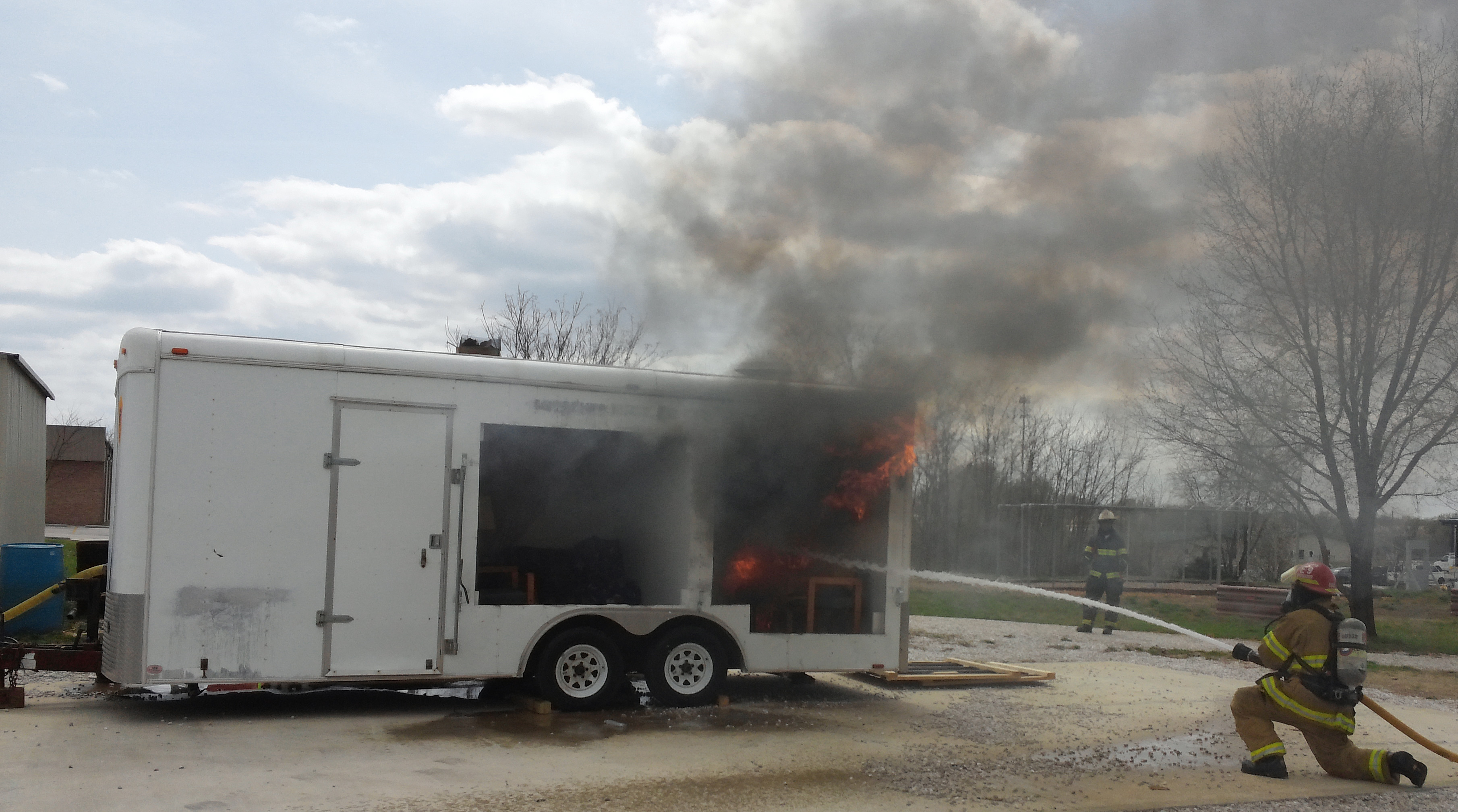 Live burn at Missouri Fire Sprinkler Coalition Summit