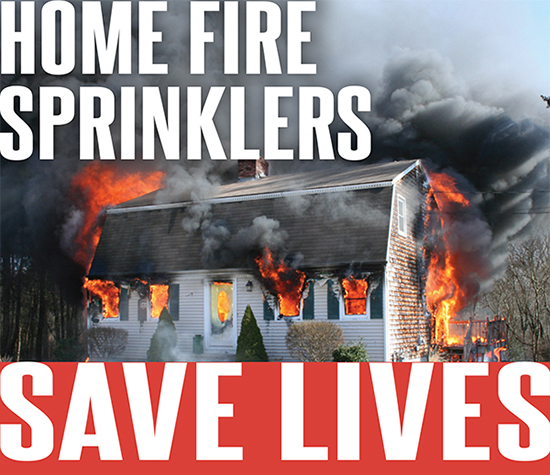 Home fire sprinklers save lives