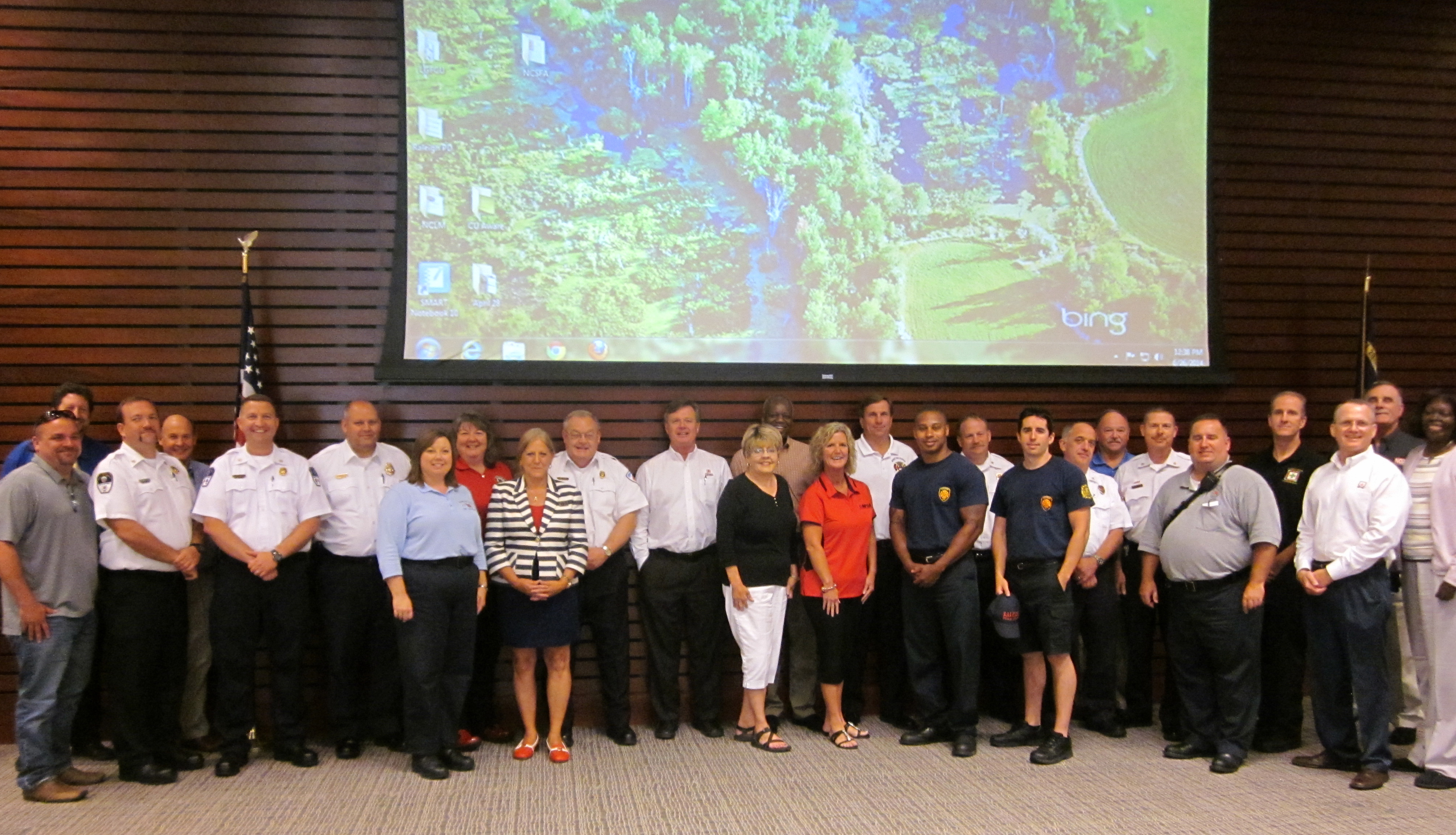 Members of the North Carolina Fire Sprinkler Coalition
