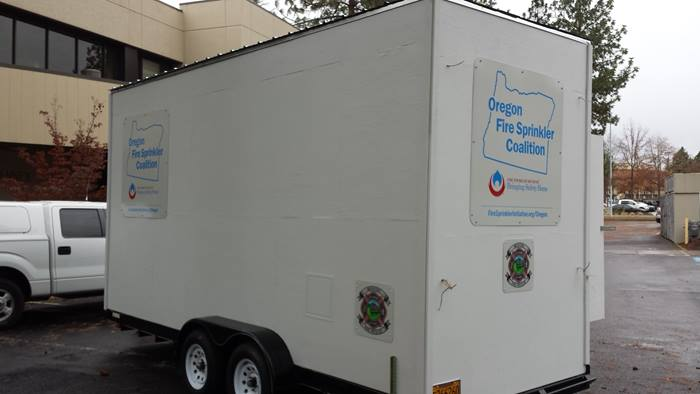 Oregon Fire Sprinkler Coalition trailer