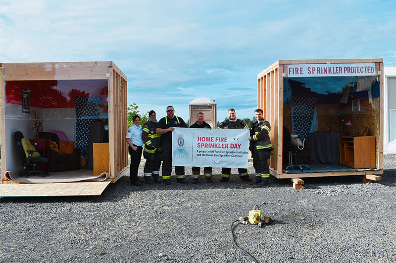 Turner Oregon Fire Dept. Home Fire Sprinkler Week Event 2019