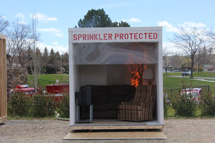 Fire sprinkler demonstration