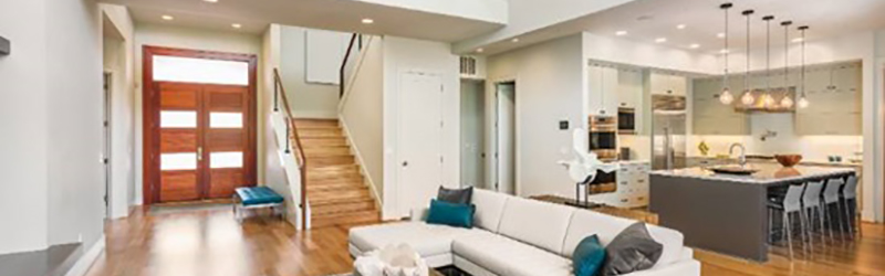 Enter The Modern Home, A Spacious Oasis Filled With Creature Comforts.  Marvel At The Open Floor Plan. Relax In Overstuffed, Upholstered Furniture.