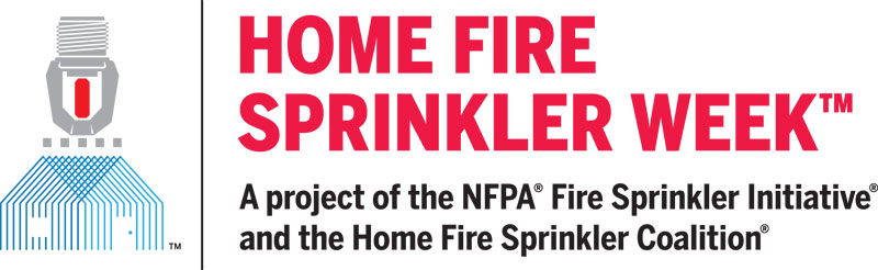 Home Fire Sprinkler Week banner