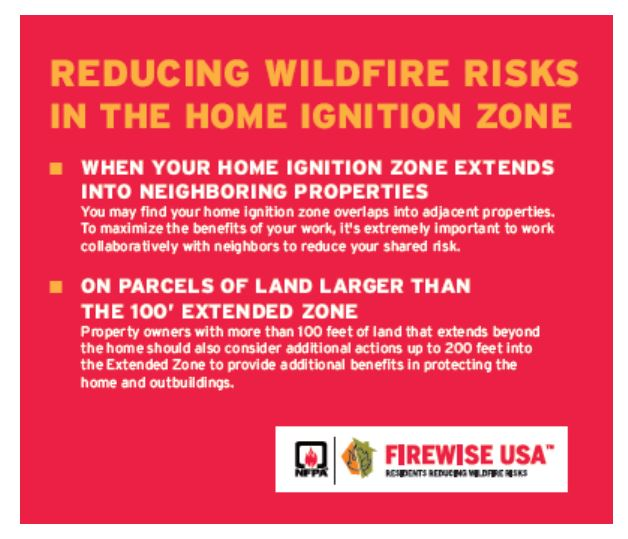 Reducing wildfire risks in the Home Ignition Zone