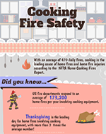 Featured item Cooking safety infographic