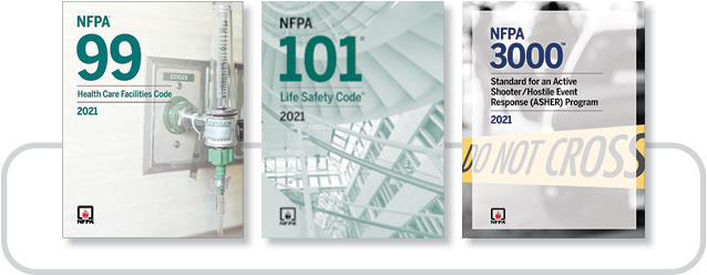NFPA 99 (2021) and NFPA 101 (2021) Codes and NFPA 3000 (2021) Toolkit