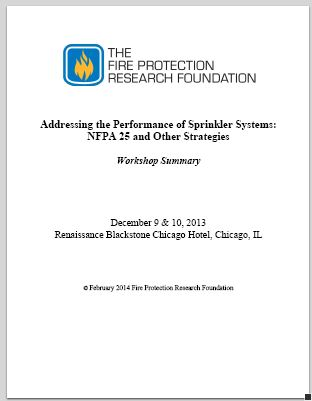 Research Foundation Report  NFPA 25