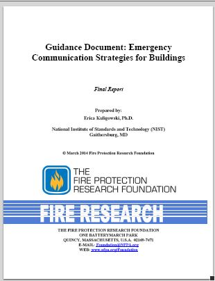 Research Foundation Report  NFPA Building Communications