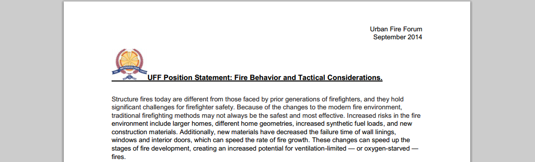 Urban Fire Forum Paper