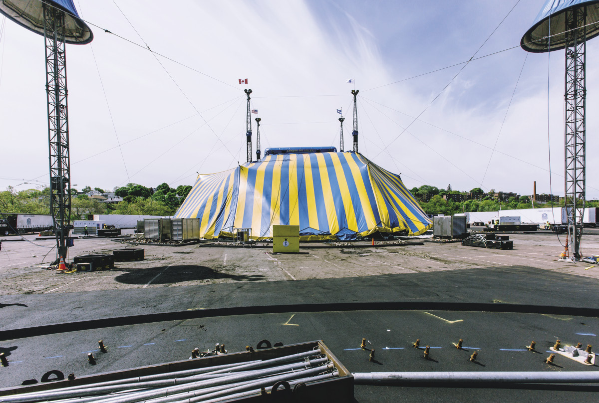 The big top raising as a work in progress