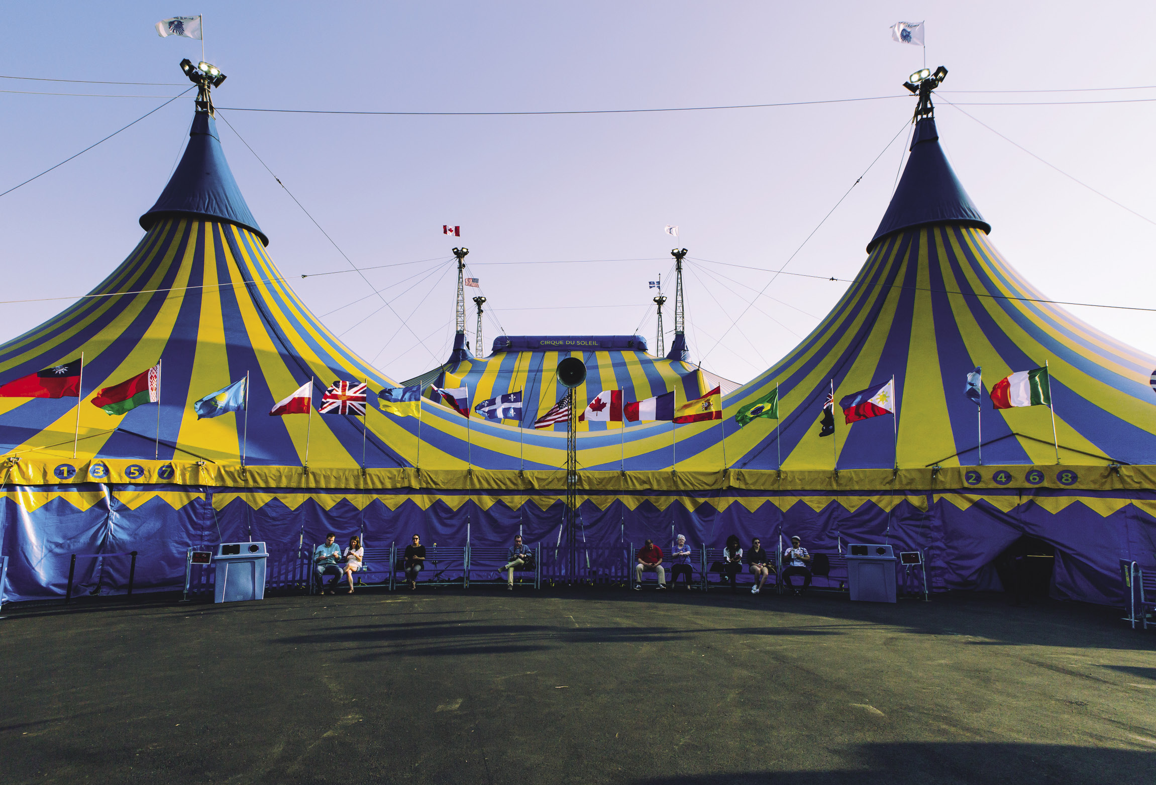Audiences access the complex through the entrance tent in foreground which includes ticketing & NFPA Journal - Cirque July August 2016