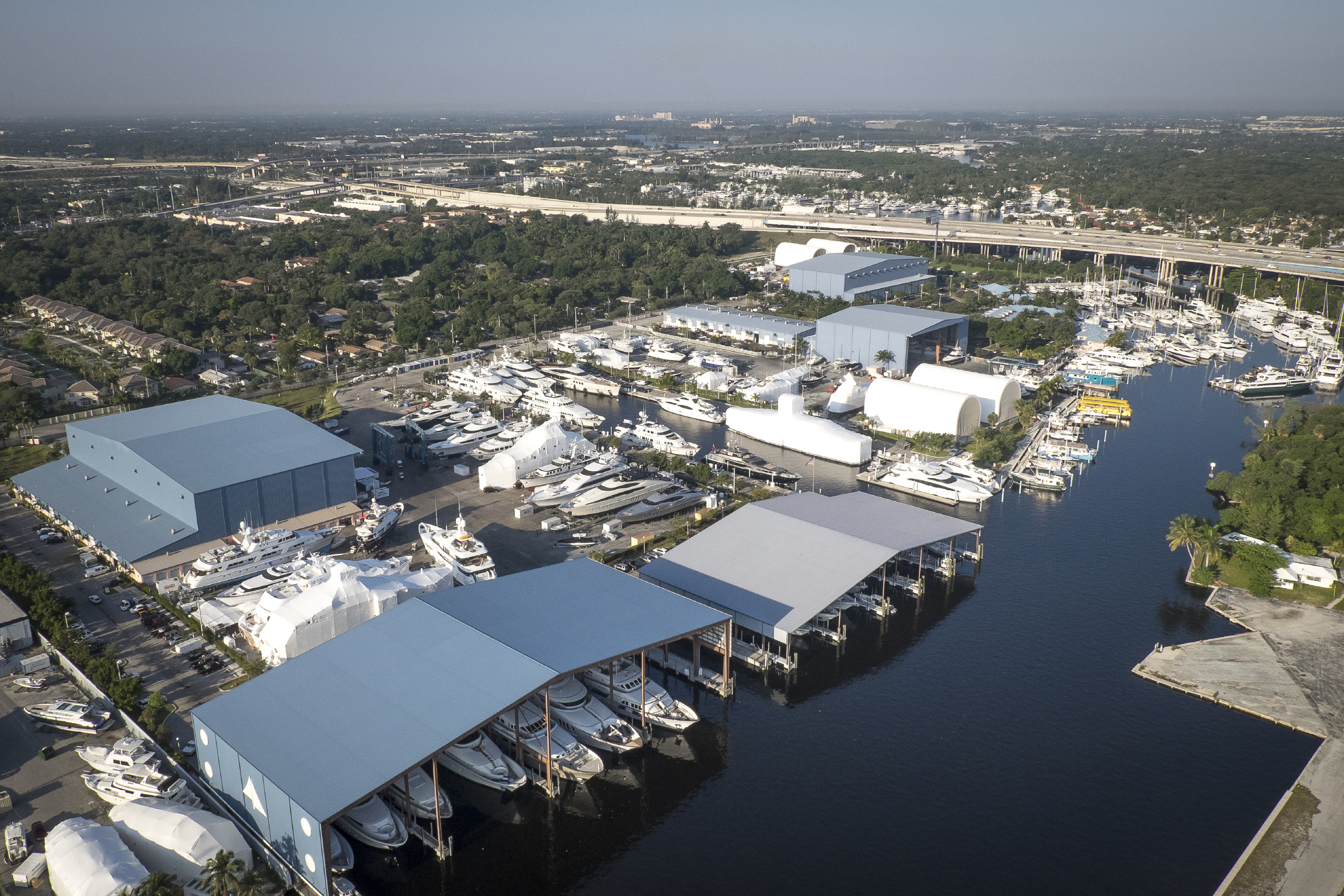 Arial photo of the Lauderdale Marine Center in Fort Lauderdale