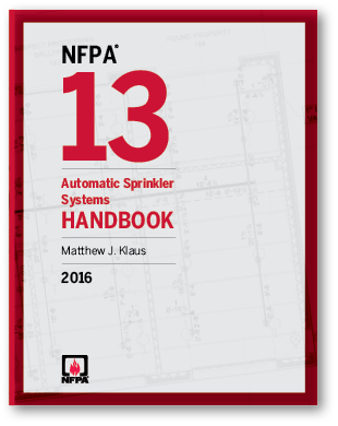 2016 Edition of NFPA 13 Cover Image