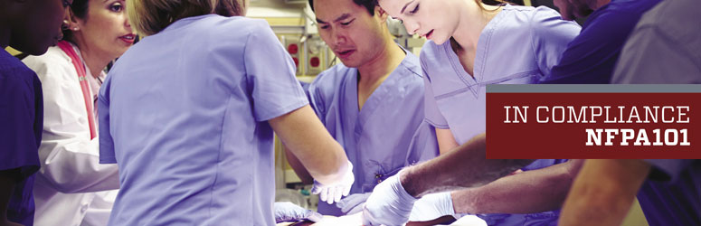 Doctors operating on a patient in an operating room