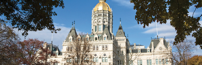 Outside of Connecticut State capitol building