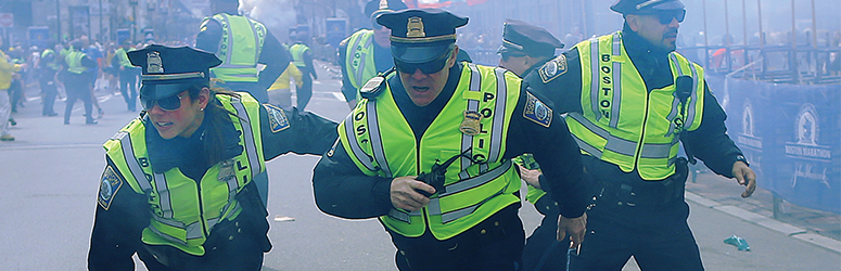 Police in the chaos that was the Boston marathon bombing