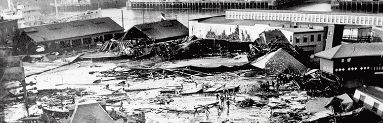 Aftermath of the Boston Molasses flood.
