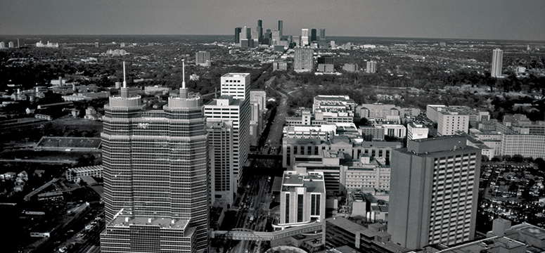 Aerial photo of the city of Houston