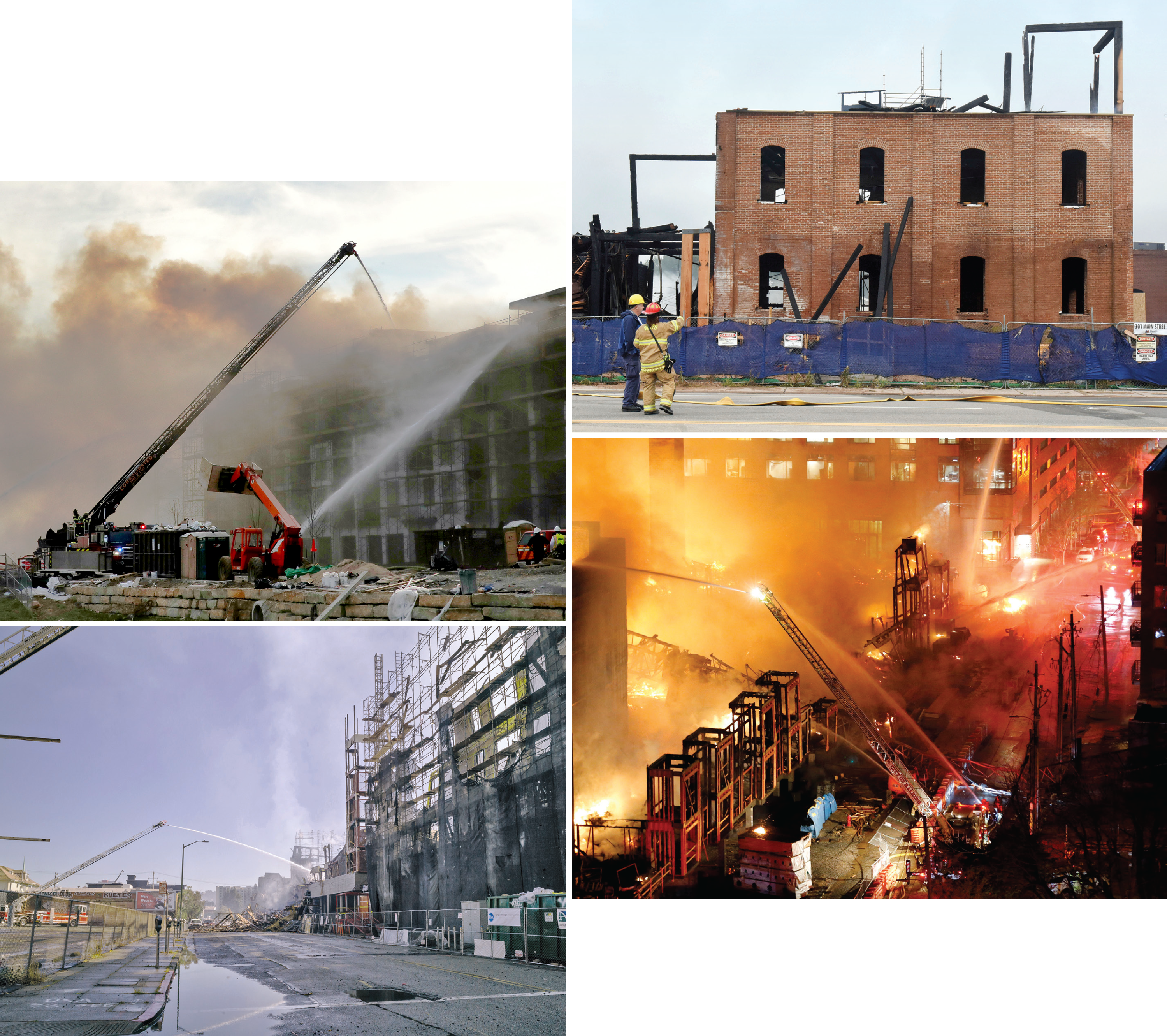 Recent fires involving buildings under construction