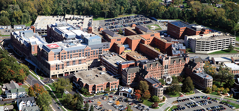 Aerial photo of the Baystate Medical Center