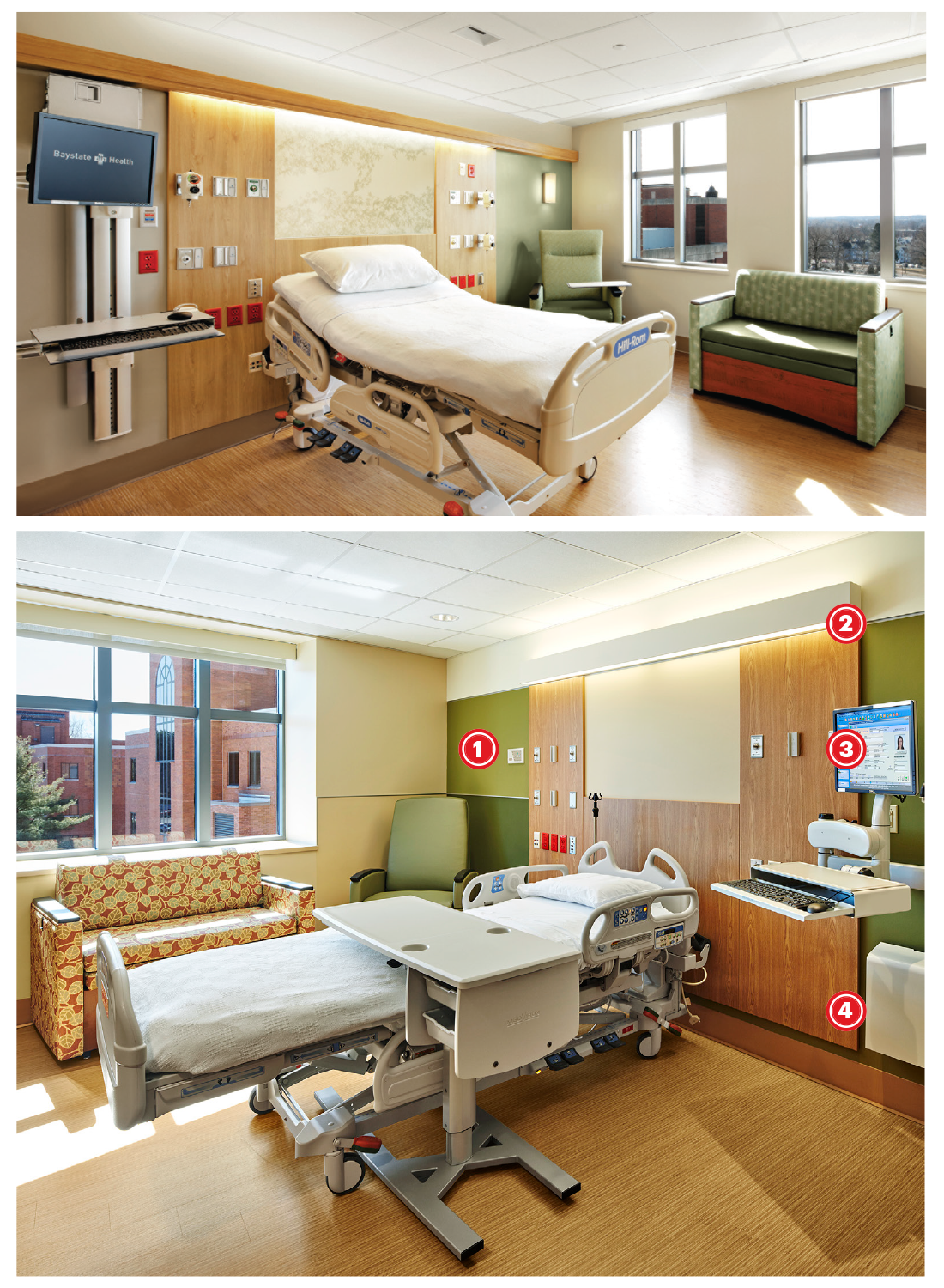Changes to the patient bedrooms based off evidence
