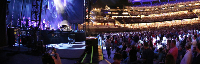 Crowd photo from the side stage of a concert at the SunTrust ball park