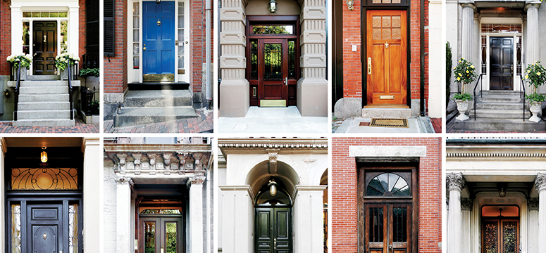 An array of front doors