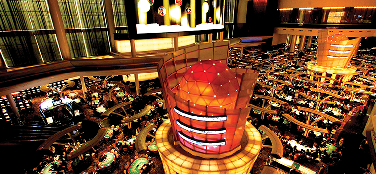 Casino floor at night