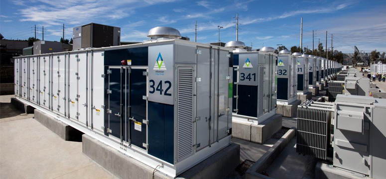 Huge field of energy storage systems on top of a building