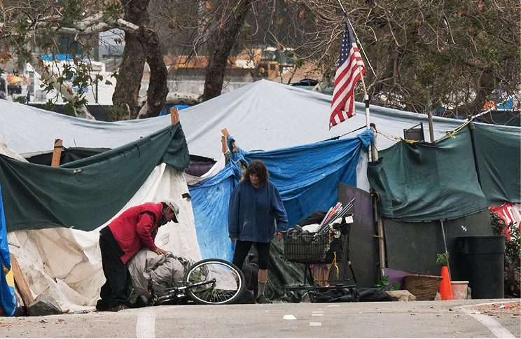 Homeless encampment in the United states