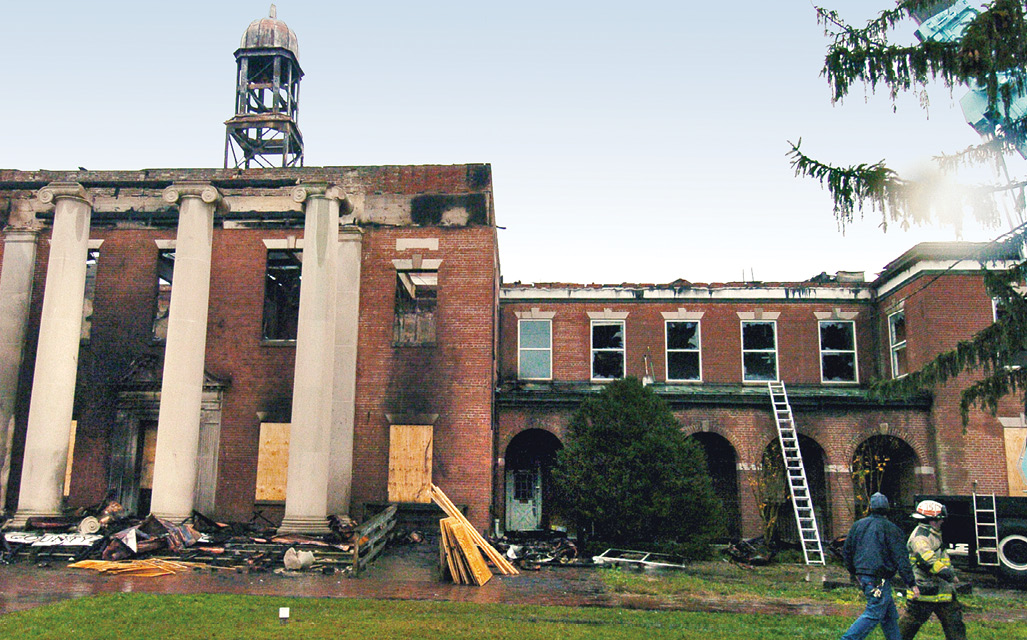 Aftermath of the Prince George's County Courthouse fire in Maryland