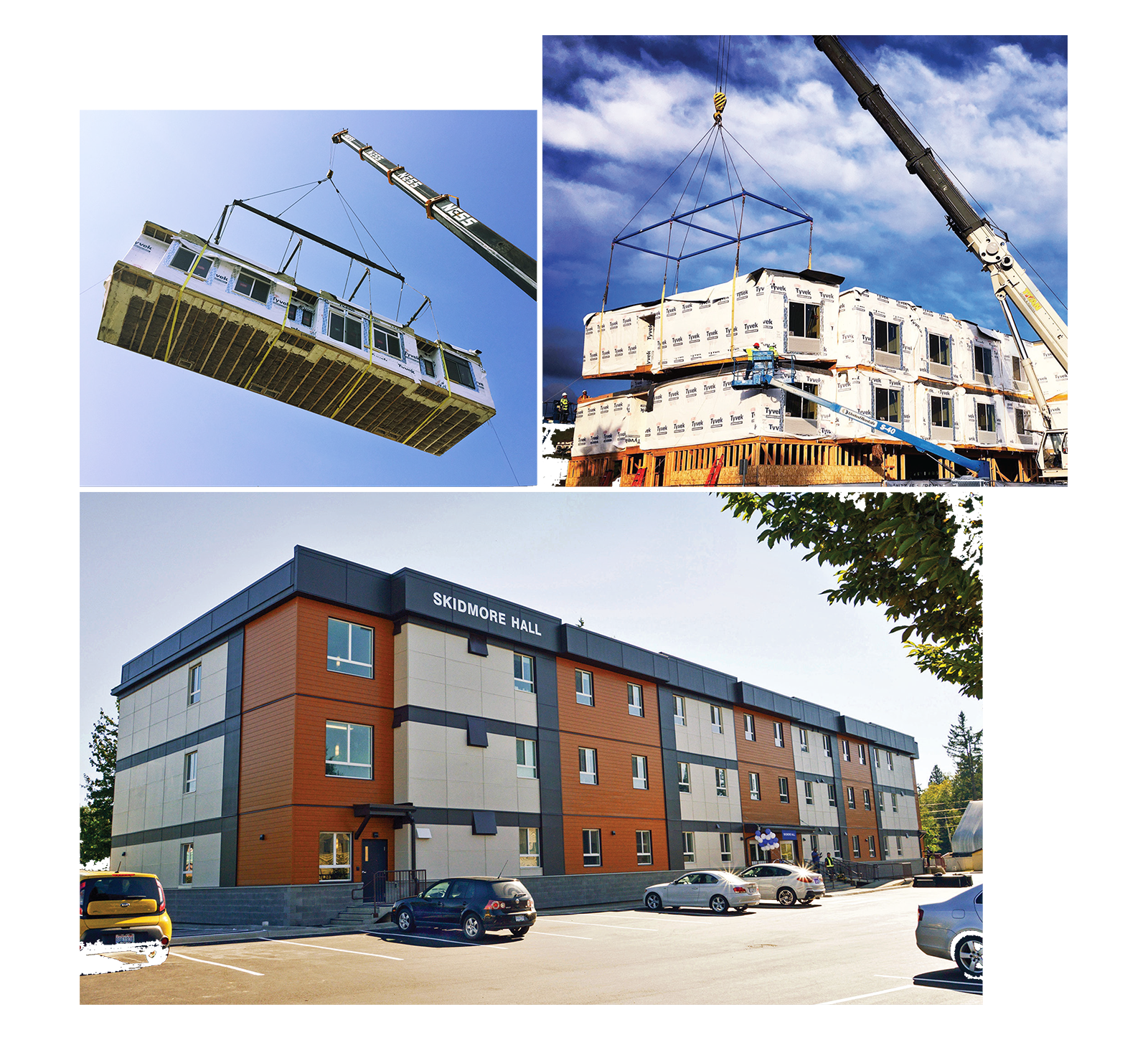 Different types of modular buildings