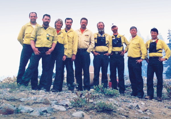 Wildland firefighters in nature, Vicki Christansen is sole woman in the group
