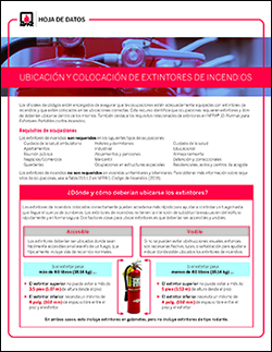 Fire extinguisher fact sheet
