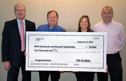 FM Global presents check to NFPA