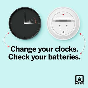 Change your clocks. Check your batteries social media card