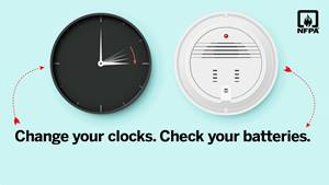 Change your clocks. Check your batteries social media card - Twitter