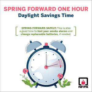 Daylight Savings Time social media card